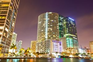 miami florida at night